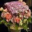 bunga pahar kristal, bunga tangan, hantaran,