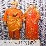 Baju Pengantin Oren Sepasang Rm399 Untuk Disewa