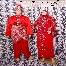 Baju Pengantin Merah sedondon sepasang RM399 untuk disewa