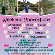 Muslimah Photographer, Wedding, Pre/post wedding, Weekend photoshoot, Engagement, Outdoor/picnic/family/preggy mom, Convocation Photographer,, Friendly and welcoming.