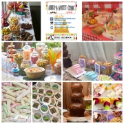 Candy buffet, chocolate, sweet tree, doorgift, akikah, birthday party, desserts, cenderahati,