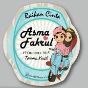 Sticker Perkahwinan Murah