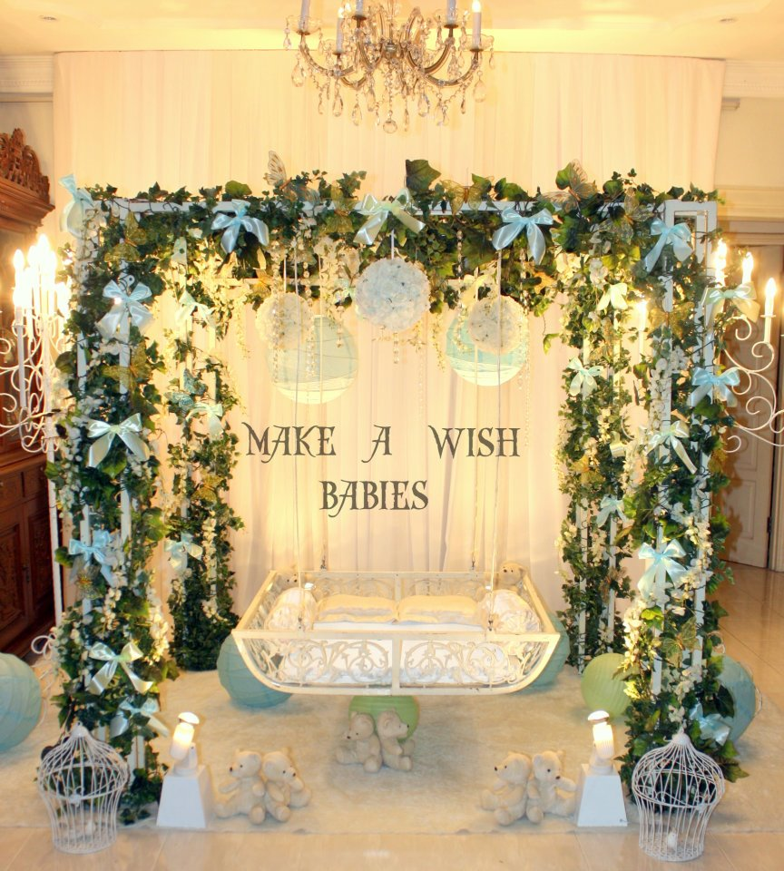 Make a wish event butik pengantin di shah alam selangor for Baby name ceremony decoration