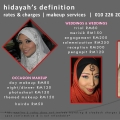 Hidayah's Definition Makeup Services