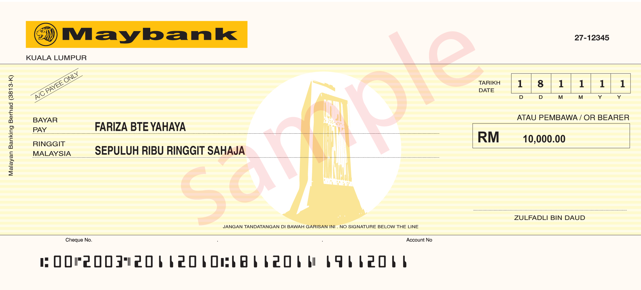 how to make bank cheque commonwealth