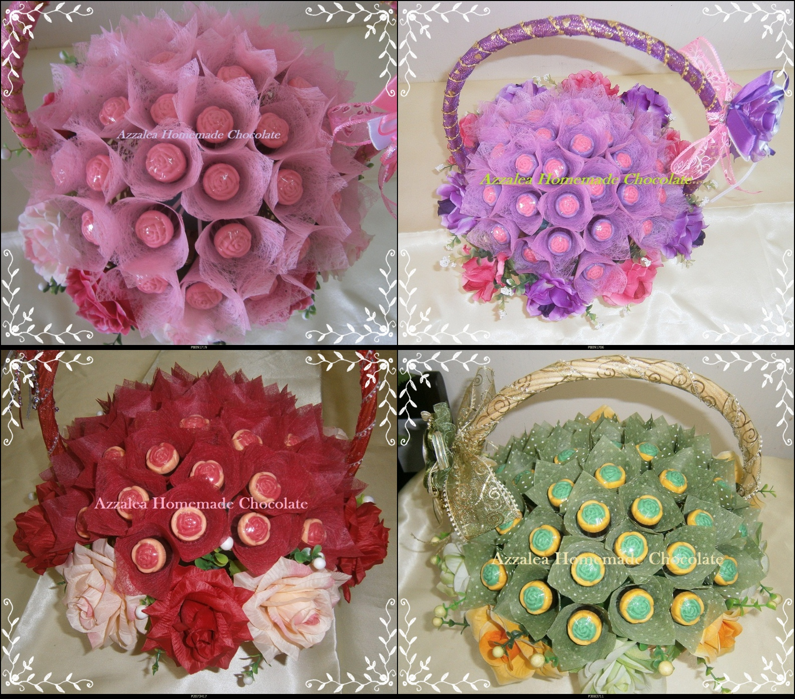 Azzalea homemade chocolate kahwin mall wedding for Idea door gift tunang