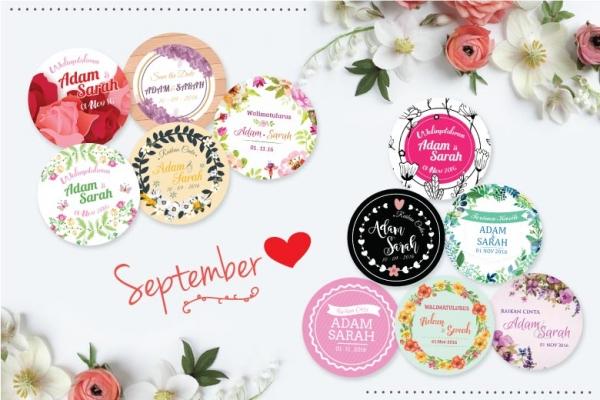 Sticker murah 2016 favors gift cenderahati dan for Idea untuk doorgift perkahwinan