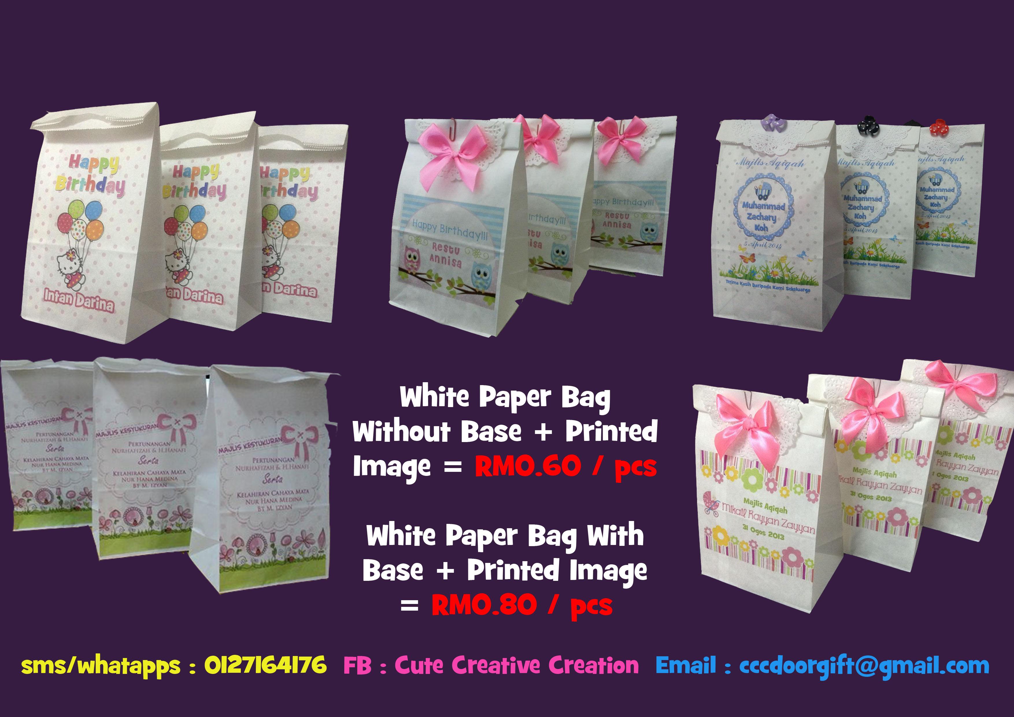 Cute Creative Creation... White Paper Bag